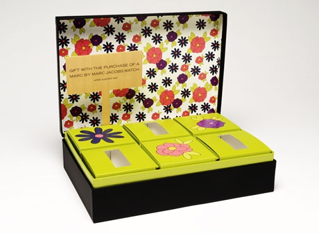 Black and floral hinged setup box