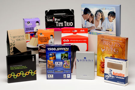 Group image of folding cartons